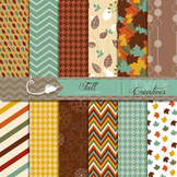 Autumn/Fall Backgrounds/Digital Papers