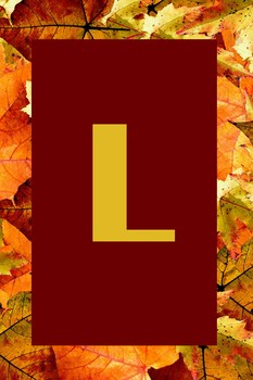 Autumn/Fall Bulletin Board Letters