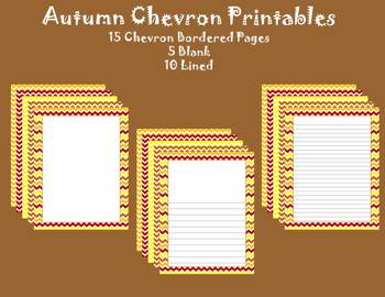Autumn/Fall Chevron Printables
