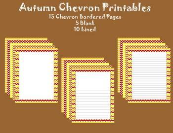 Autumn/Fall Chevron Printables