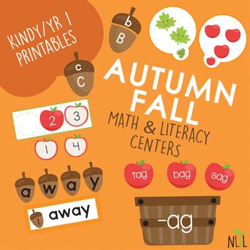 Autumn/Fall Literacy Centers