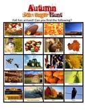 Autumn/Fall Scavengar Hunt *Great for Pumpkin Patch Activity*