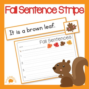 Autumn/Fall Sentence Strips
