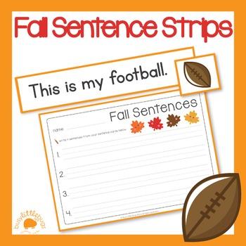 Autumn/Fall Sentence Strips