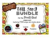 Autumn/Fall Songs BUNDLE for PreK-2nd Grade Classrooms