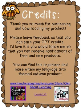Autumn/Fall Themed Favorite Book Graphic Organizer *FREEBIE!*
