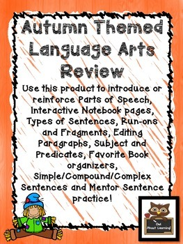 Autumn/Fall Themed Language Arts Skills Teach and Review