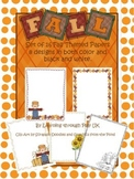 Autumn/Fall Themed Paper Pack (8 Designs)