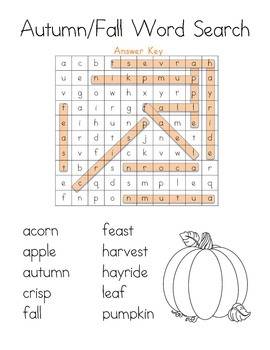 Word Search: Autumn/Fall