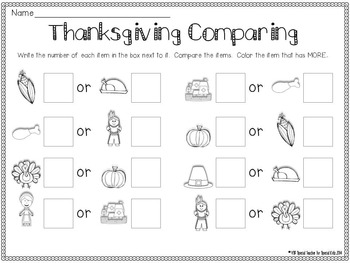 Autumn/Thanksgiving * Color, Count, Tally & Do- Instant and Interactive Math