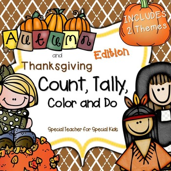 Autumn/Thanksgiving * Color, Count, Tally & Do- Instant an