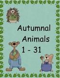 Autumn Animal Numbers 1-31