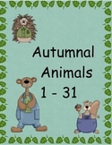 Autumn Animal Numbers 1-31