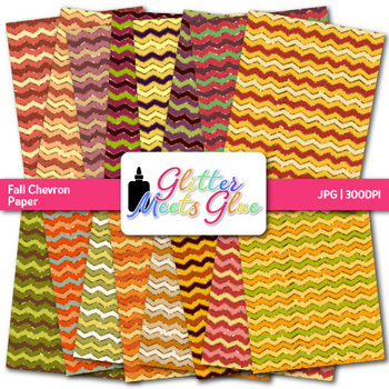 Autumn Chevron Paper {Fall Scrapbook Backgrounds for Task Cards & Brag Tags}