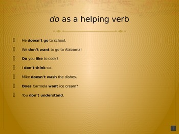 """Auxiliary Verb """"To Do"""" - PowerPoint Presentation for ELLs"""