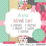 Digital Paper and Frame Mini Set Ava