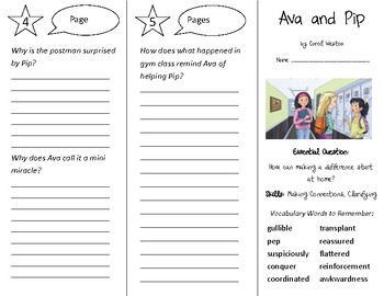 Ava and Pip Trifold - Open Court 4th Grade Unit 1 Lesson 1