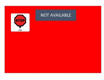 Available/Not Available Communication Board
