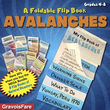 Avalanches: A Foldable Flip Book of Natural Disasters