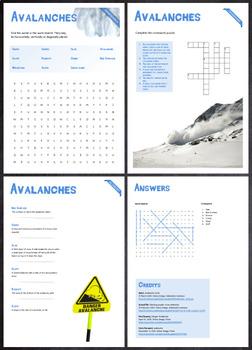 Avalanches - Puzzles & Glossary