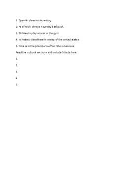 Avancemos 1 Unit 1 Lesson 2 Study Guide