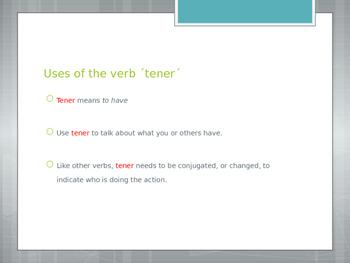 Avancemos 1.2.1 The Verb Tener