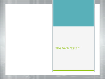 Avancemos 1.2.2- The Verb Estar