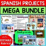 Spanish 1 & 2 PROJECTS MEGA BUNDLE | Spanish Review | Back