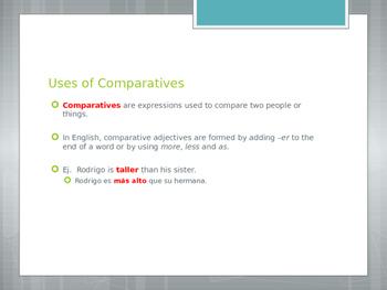 Avancemos 1.3.2 Comparatives