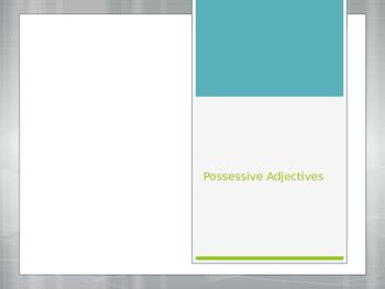 Avancemos 1.3.2 Possessive Adjectives