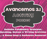 Avancemos 1 - 3.1 - 37 Page Activity Packet!