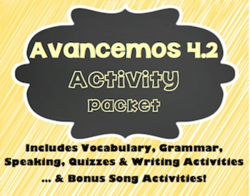 Avancemos 1 - 4.2 - 36 Page Activity Packet!