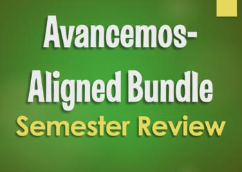 Avancemos 1 Bundle:  Semester 1 Review