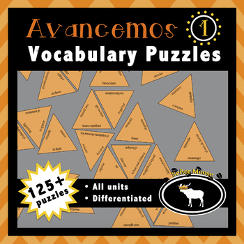 Avancemos 1 Spanish Vocabulary Puzzles (Entire Textbook)
