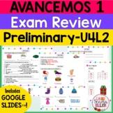 Avancemos 1 Spanish Final Exam Review Study Guide Print &