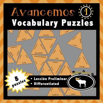 Avancemos 1 Spanish Vocabulary Puzzles (Lección Preliminar)