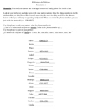 Avancemos 1 Lección Preliminar Phone number Communicative activity