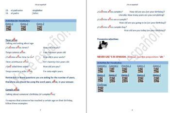 Avancemos 1  Leccion Preliminar - Unidad 5 Lección 1 Lessons/Notes/Study Guides