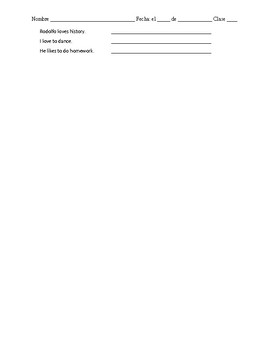 Avancemos 1 Lección Preliminar Vocabulary List with KEY