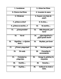 Avancemos 1 Preliminar Classroom Expression Charade Cue Cards