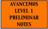 Avancemos 1: Preliminar Notes