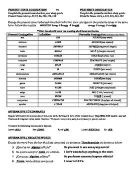 Avancemos 1 Review Worksheet