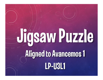 Avancemos 1 Semester 1 Review Jigsaw Puzzle