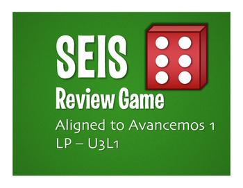 Avancemos 1 Semester 1 Review Seis Game