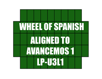 Avancemos 1 Semester 1 Review Wheel of Spanish