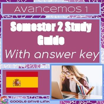 Avancemos 1 Semester 2 Final Study Guide