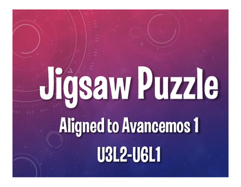 Avancemos 1 Semester 2 Review Jigsaw Puzzle