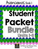 Avancemos 1 Student Handouts & Notes - BUNDLE - All Units LP - 8