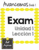 Avancemos 1 Unit 1 Lesson 1 - EXAM - EXAMEN