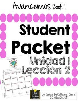 Avancemos 1 Unit 1 Lesson 2 Student Handouts & Notes - Spa